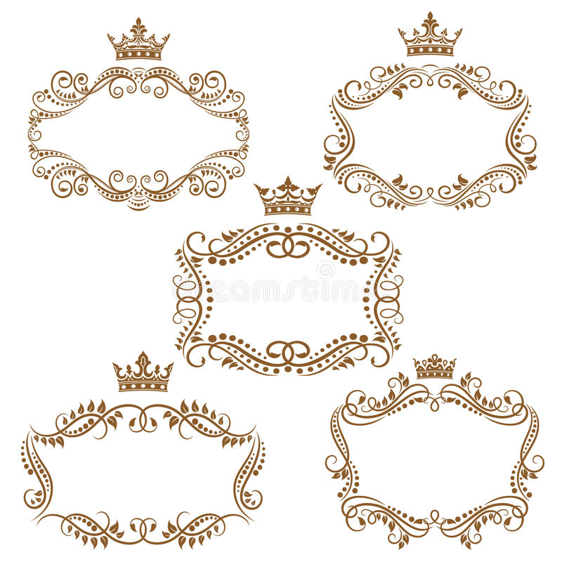 Royal Vintage Brown Borders And Frames Stock Illustration Borders And Frames Royal Frame Ornament Drawing