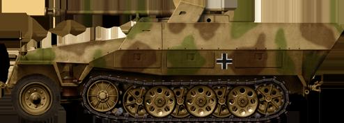 sdkfz 251 22 7 5 cm pak 40 l 46 auf mittlerer sch tzenpanzerwagen ausf d caen sector normandy. Black Bedroom Furniture Sets. Home Design Ideas