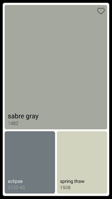 Benjamin Moore Sabre Gray 1482 Paint In 2019