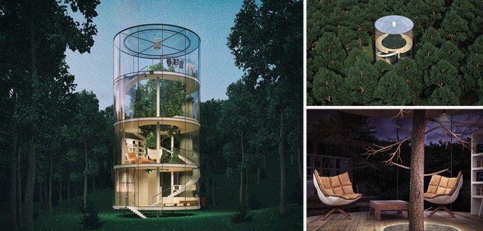 """""""Tree in the house"""": het tegengestelde van een boomhut"""