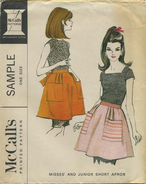 Vintage Apron Sewing Pattern | McCall's Sample | Year 1966 | One Size