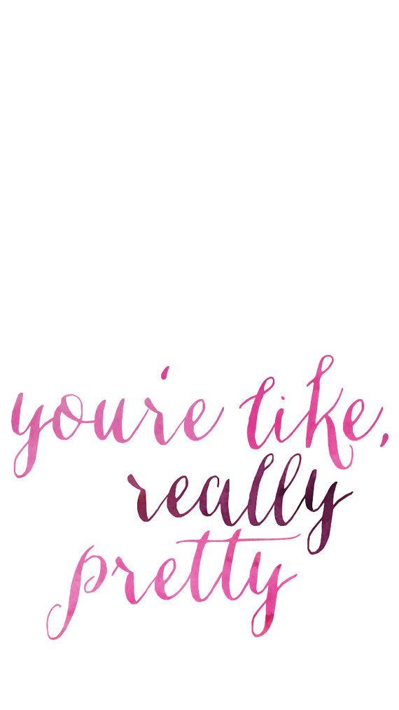 Youre Like Really Pretty Mean Girls Quotes Pink Watercolor