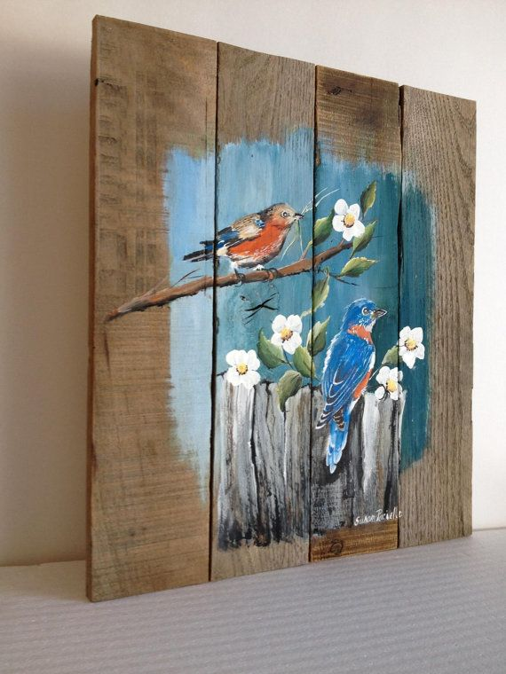Distressed Wall Decor pallet painting, pallet art, distressed wall art, rustic wall