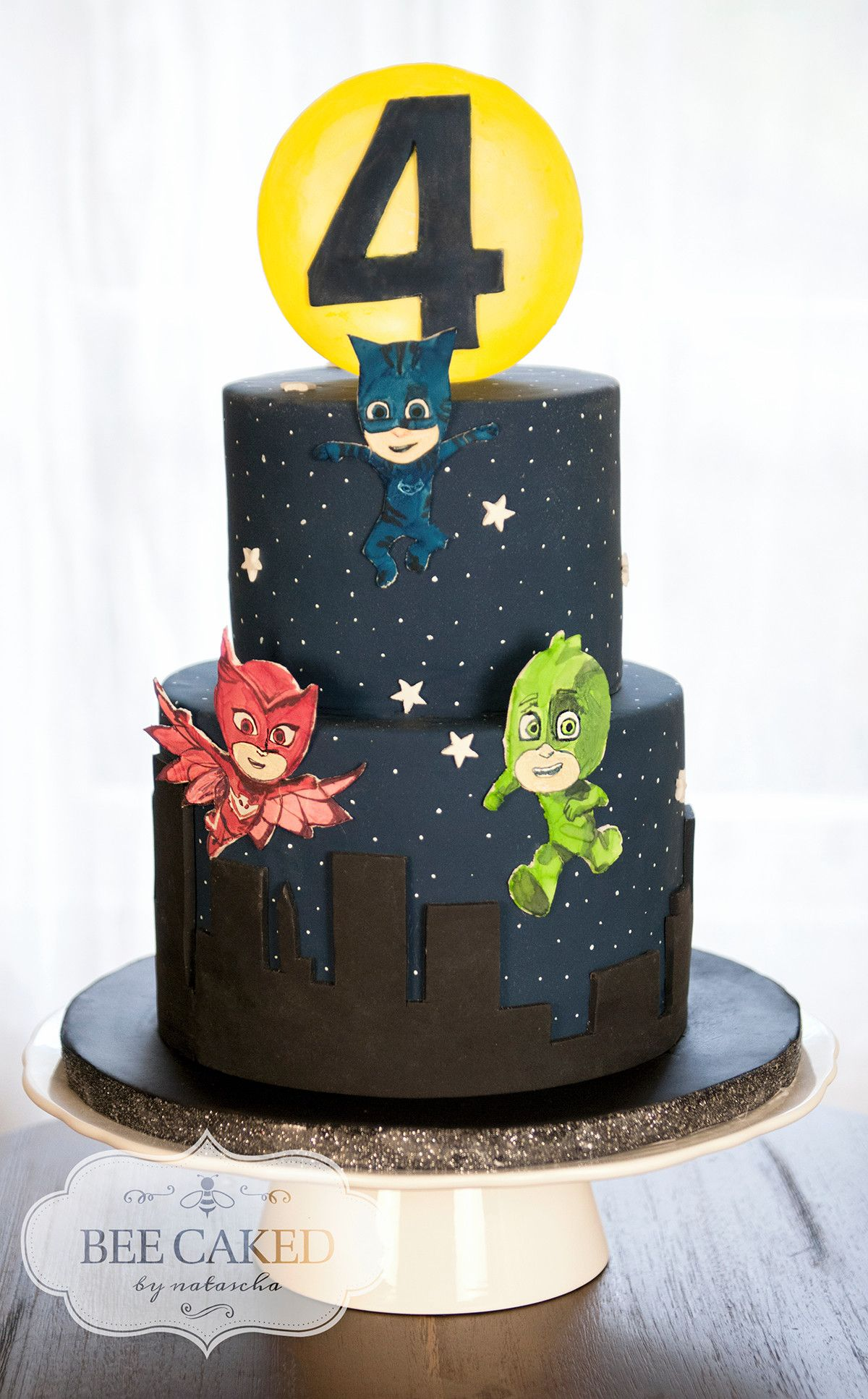 PJ Masks Cake For 4 Year Old Pj Birthday 3rd Parties