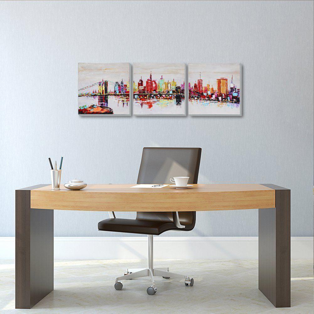 Amazon.de: AONBAT Leinwandbilder New York City Acrylbilder Moderne Kunst Ölgemälde - Landschaft