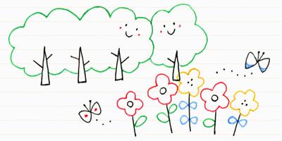 8 植物をモチーフに描いてみよう ボールペンで描く プチかわいいイラスト練習帳 落書きの絵 かわいいイラスト イラスト