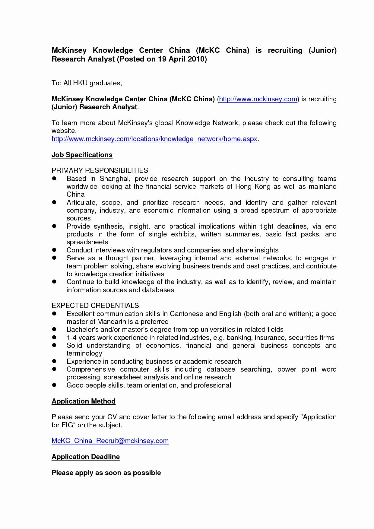 Cover Letter To Bcg - Sample cover letter for Full Time ...