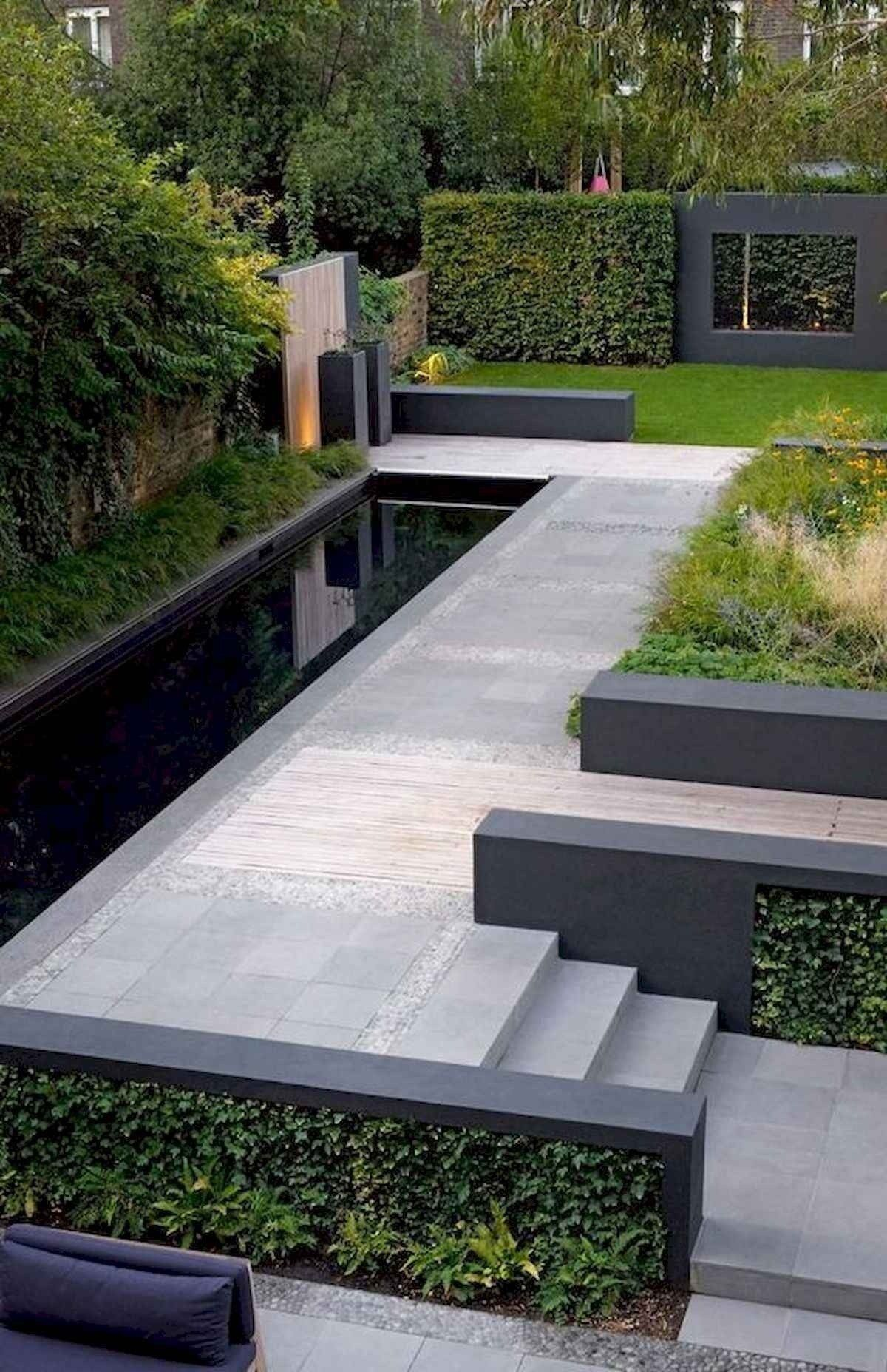 60 Beautiful Backyard Garden Design Ideas And Remodel Desain Kebun Modern Pertamanan Belakang Rumah Halaman Belakang Modern Modern outdoor garden ideas