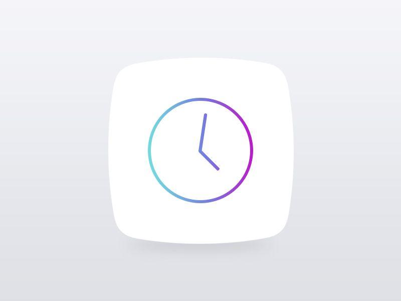Ios 7 Clock Icon App Icon Design App Icon Icon Design