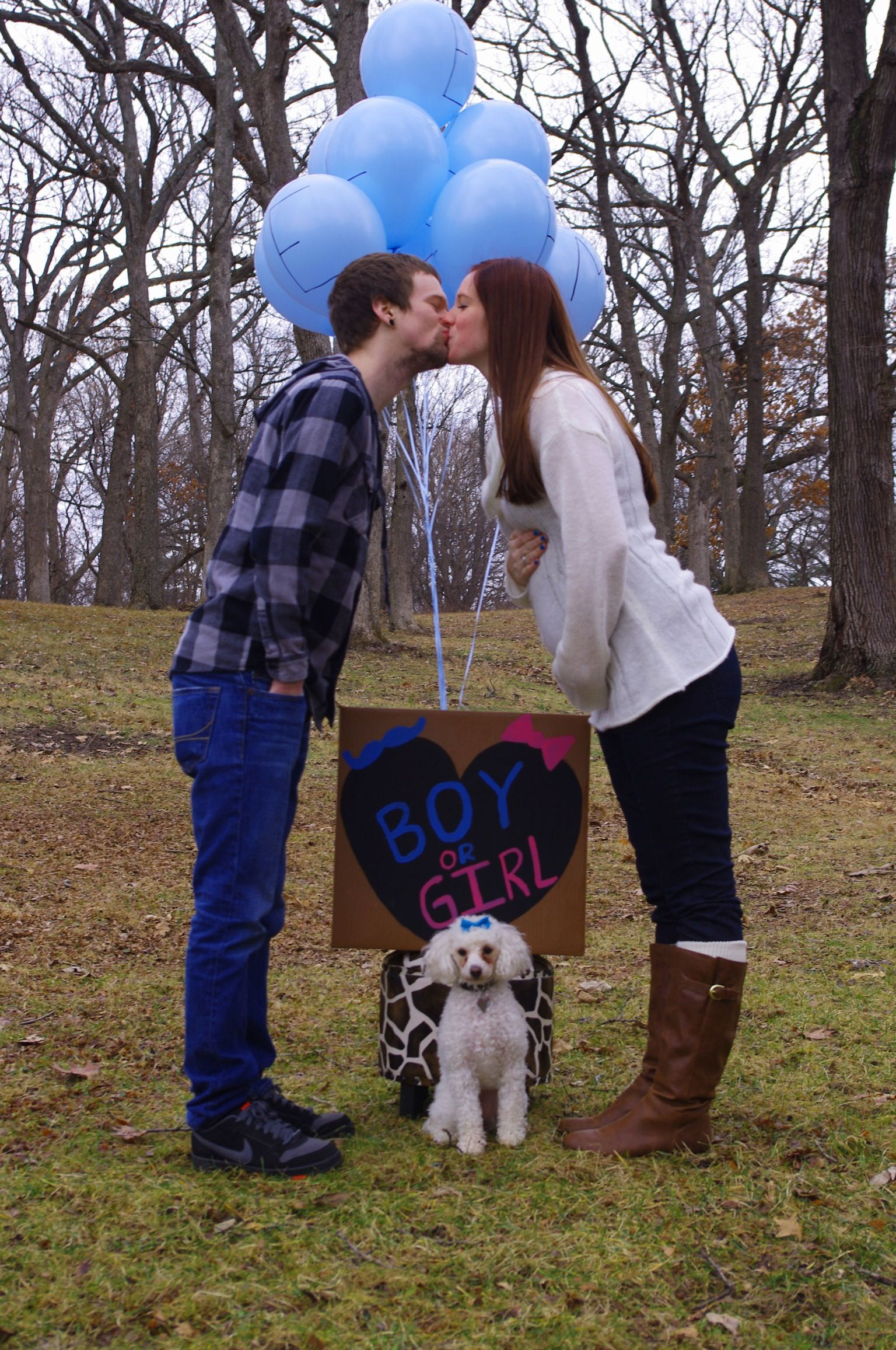 Gender Reveal with dog my dog has to be included