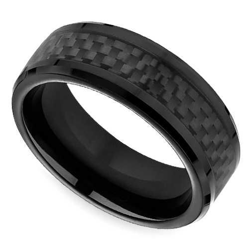 Groom Style Edgy Modern And Durable The Black Carbon Fiber Men S Wedding