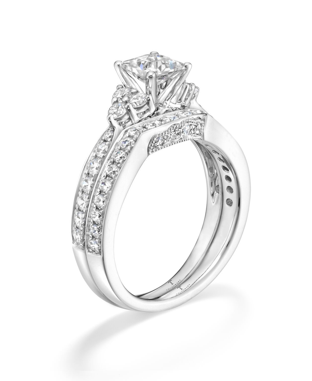 Tolkowsky Diamond Bridal Set in 14K White Gold Available in the