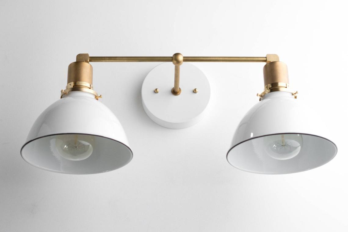 Bathroom Wall Light Industrial Vanity Light Brass Light