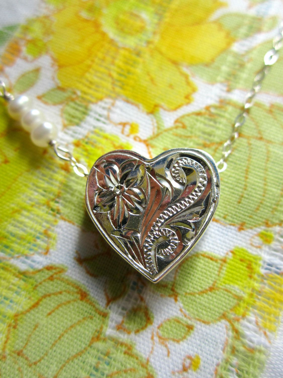 Medium 3D Floating Heart Necklace - Hawaiian Jewelry - Gift Mother Mom Grandmother Grandma Best Friend Daughter Christmas. $85.00, via Etsy.