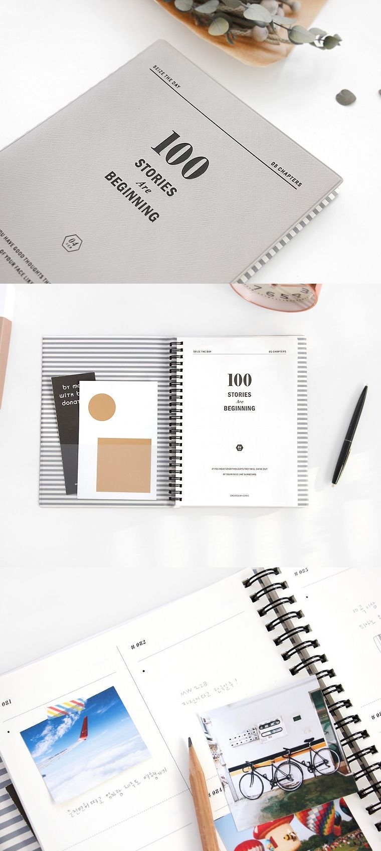 ... make it a planner, make it 100 special memories that will last you a  lifetime. Newly updated versions of our beloved 100 Stories Seize the Day  Notebook ...