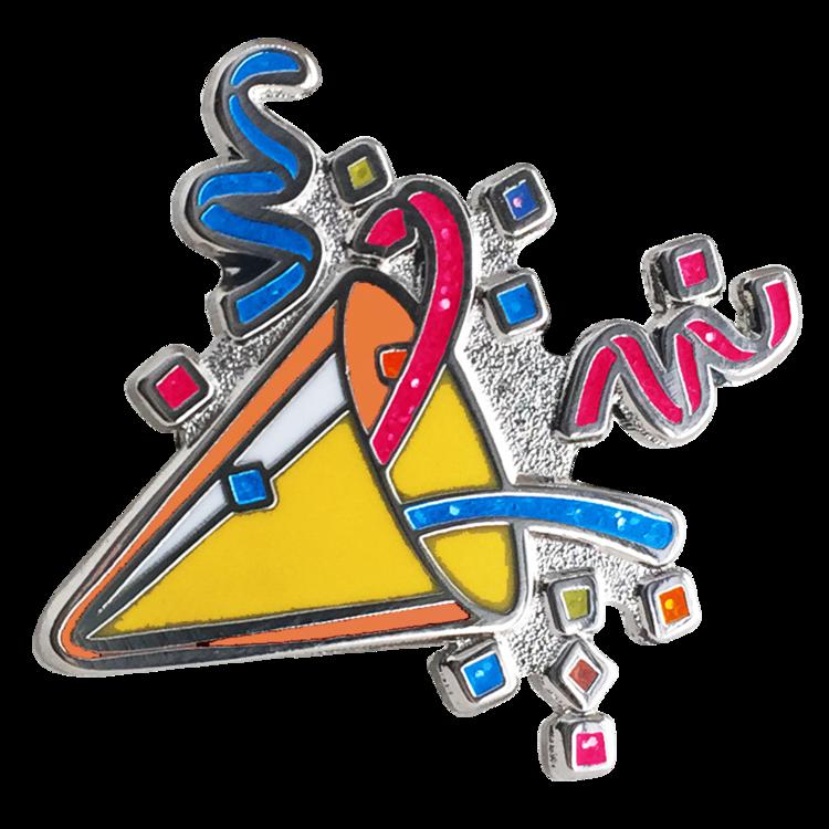 Party Popper Emoji Pin Glitter