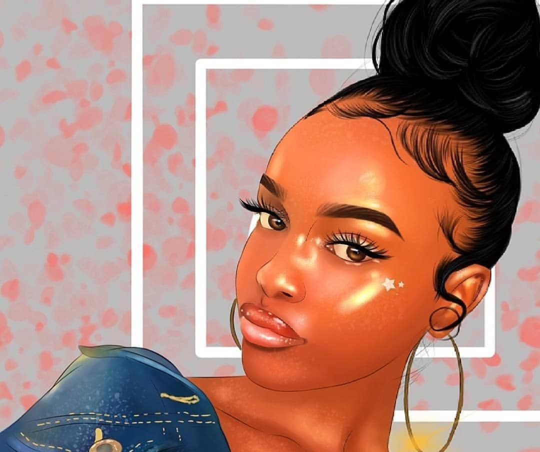 Pin by Rayyanatu on Black Art | Black girl art, Black love art, Black girl magic art