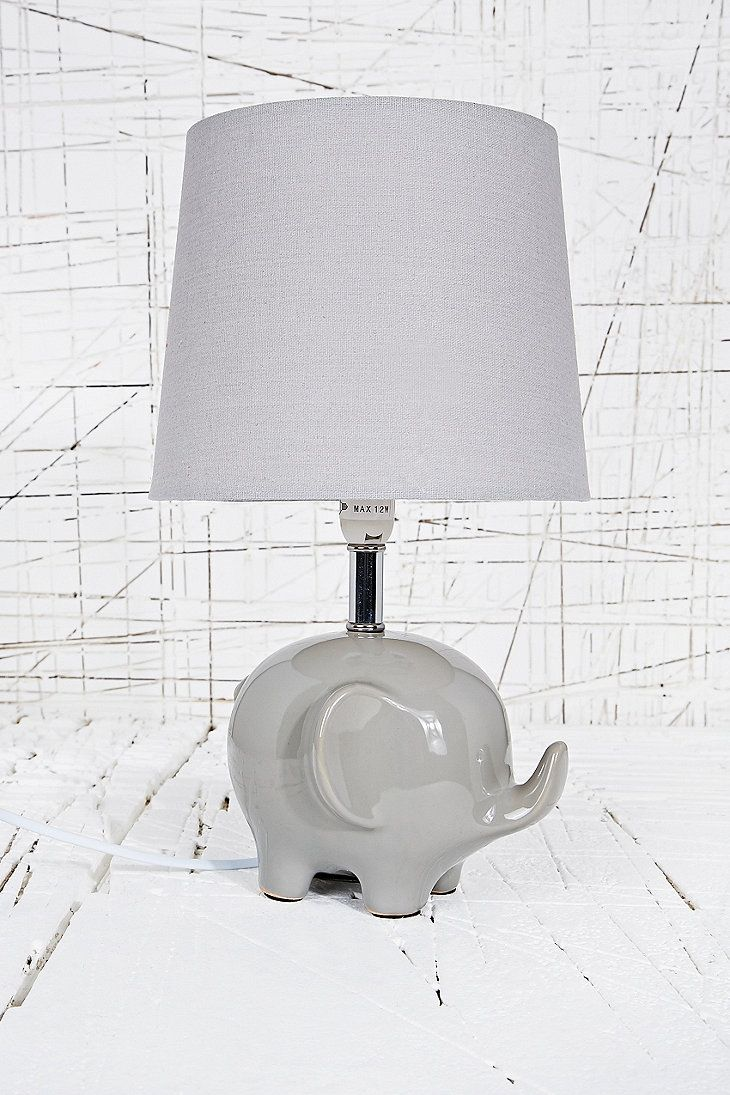 Elephant Lamp EU Plug In Grey