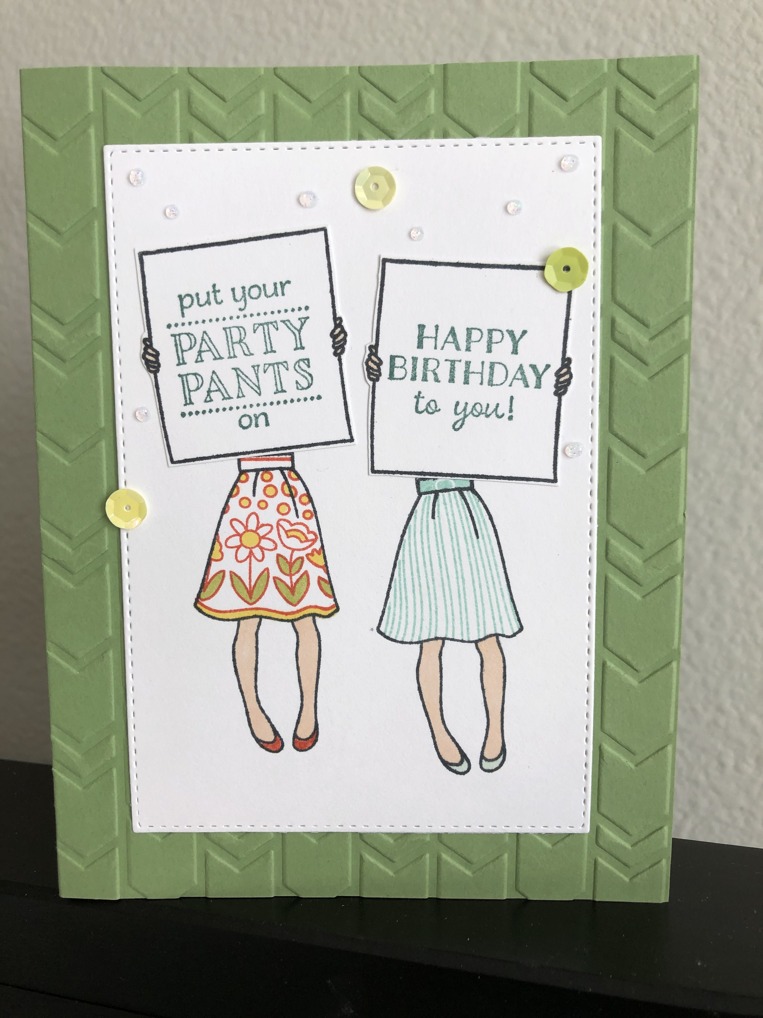 Hand Delivered Party Pants Card Stampin Up Birthday Cards Stamping Up Cards Stampin Up Cards