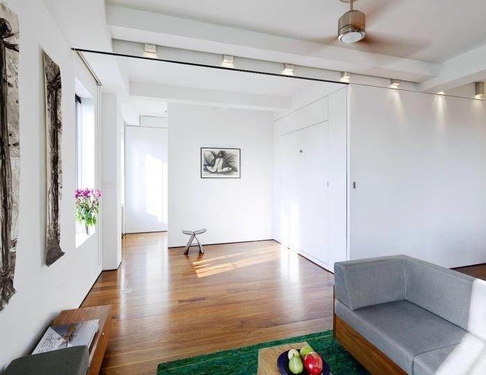 Studio Apartment Vs 1 Bedroom the architect is in: a tiny live/work loft made large | murphy bed