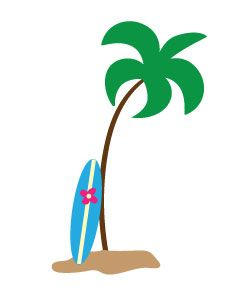 free palm tree clipart for you to use in craft projects part decor rh pinterest com Palm Tree Outline Clip Art Palm Tree Coloring Pages