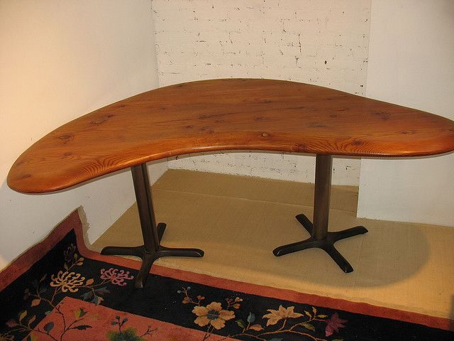custom standing desk kidney shaped mid. kidney shaped table bean flickr photo sharing custom standing desk mid