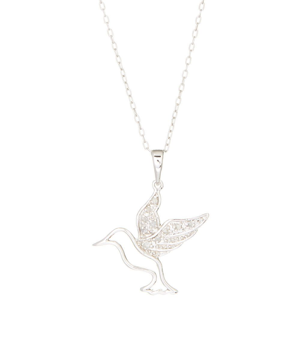 Look at this Diamond & Sterling Silver Hummingbird Pendant Necklace on #zulily today!