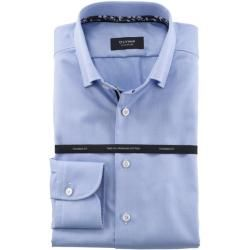 Olymp Signature Hemd, tailored fit, Signature Under-Button-down, Bleu, 46 Olympolymp