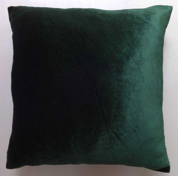 green velvet pillow