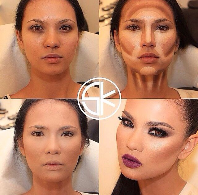 dramatic makeup contouring before and after google search