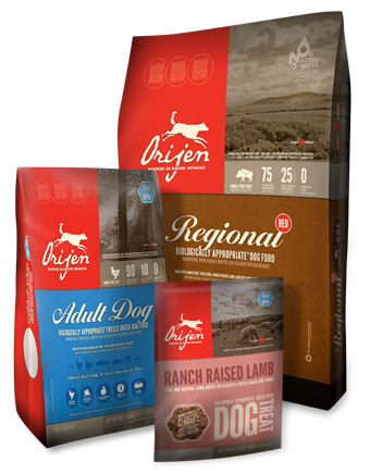 ORIJEN dog food. Another fantastic dog food. My dogs get