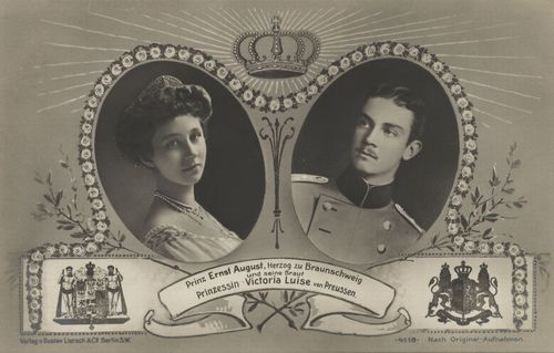 Victoria Louise and Ernst August post card circa1913