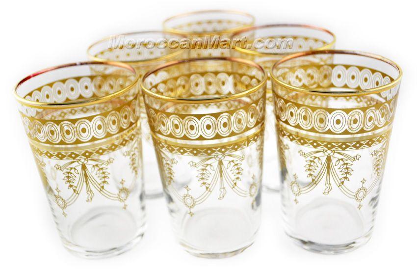Ber Gold Tea Glasses