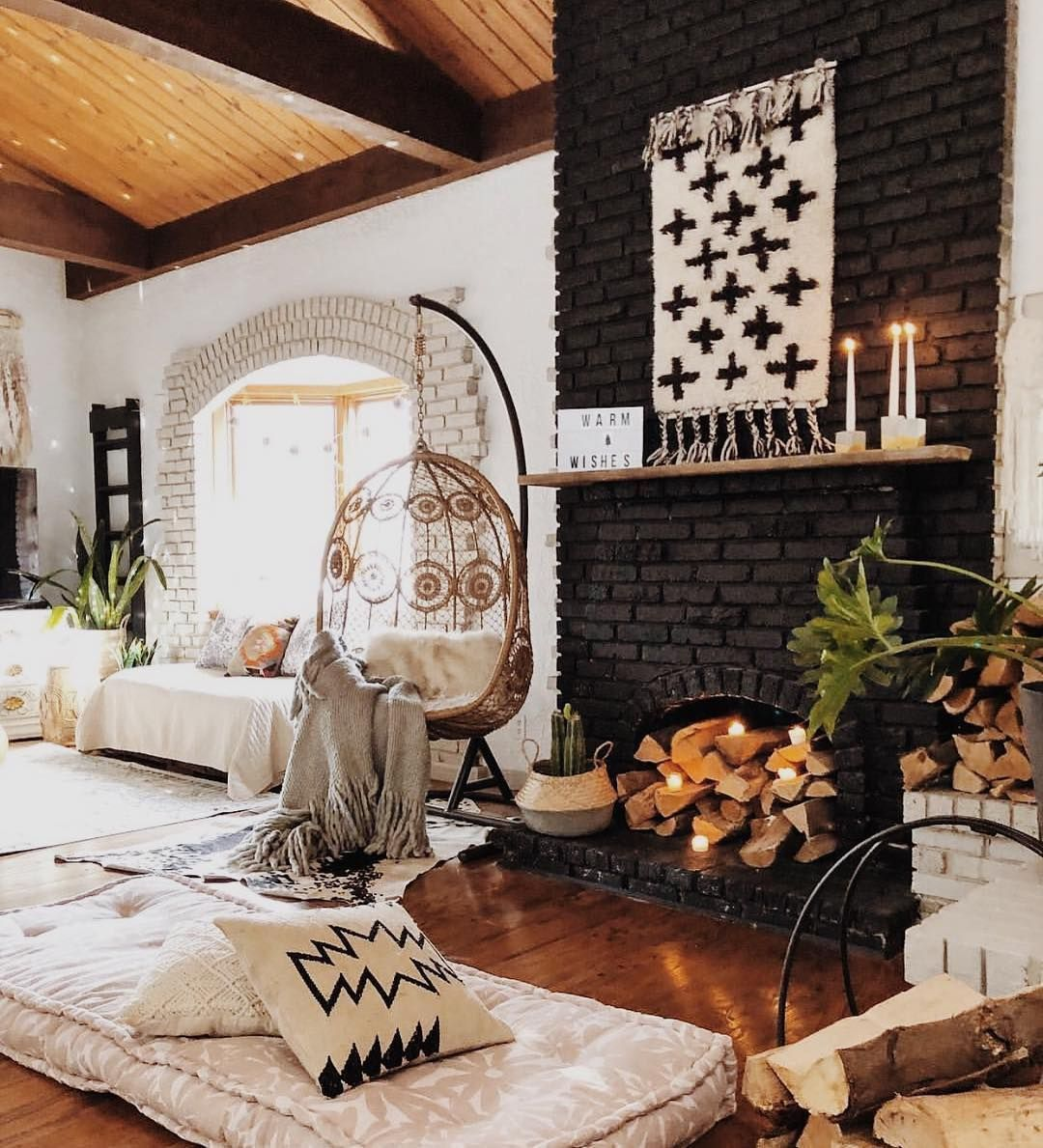 Bohemian Southwest Neutral Living Room Home Decor Decor House Interior #southwestern #living #room #ideas