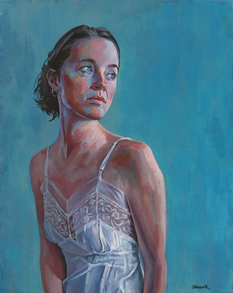 Andy Beck Figurative Portrait painting of Bianca Acrylic on canvas ...