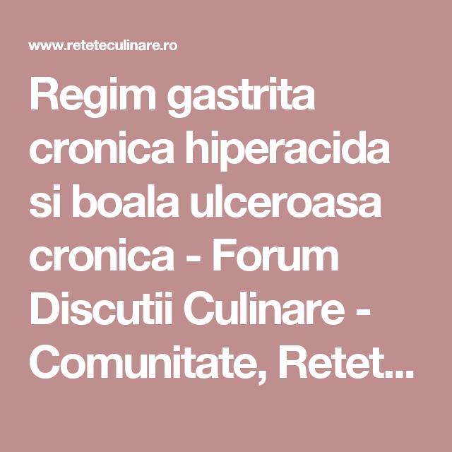 18 elemente esentiale ale regimului pentru gastrita si ulcerul gastroduodenal