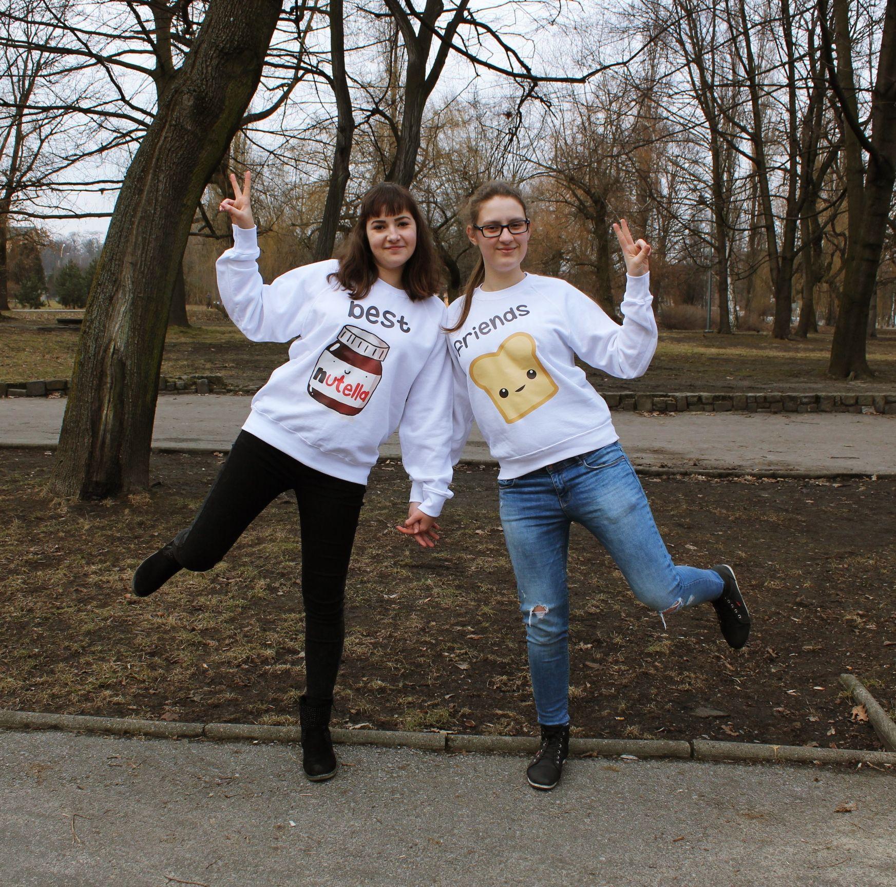 Bluzy Z Nadrukiem Nutella I Tost Dla Przyjaciolek Dla Przyjaciol Ootd School Couple Photos Couples
