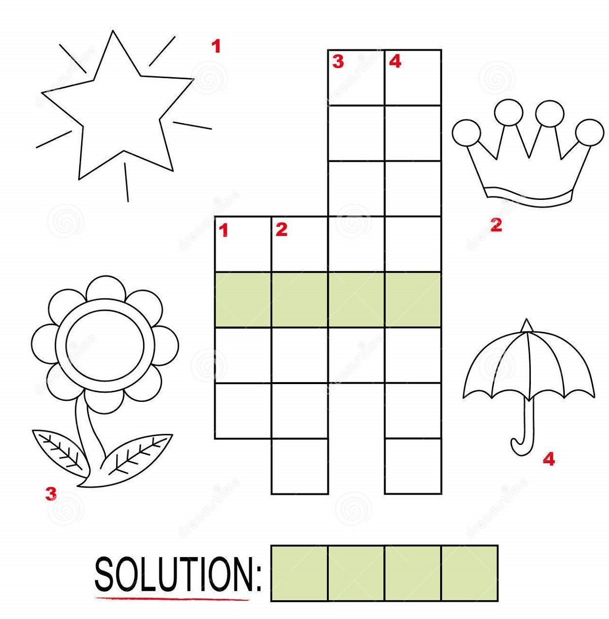 Free Crosswords For Kids Under Nine With Images