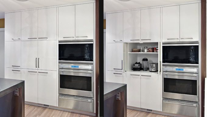 kitchen design white enamel cabinetry