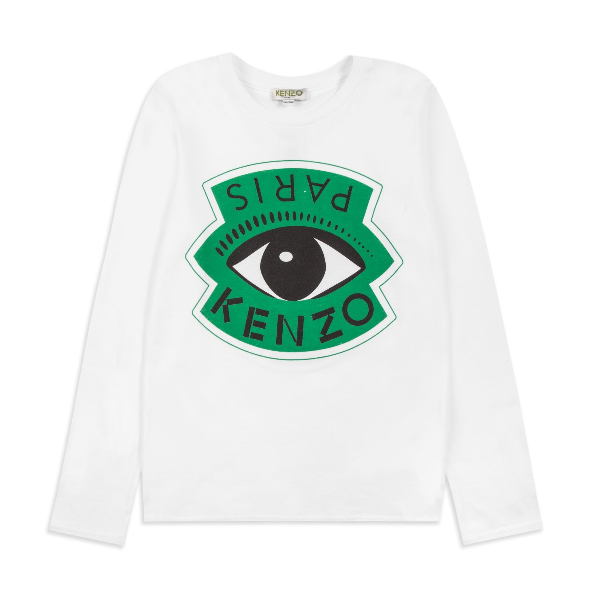 20270b1e KENZO Boys LS Eye & Eiffel Tower T-Shirt - White Boys long sleeve t-shirt •  Soft cotton jersey • Round neckline • Branded eye print • Reverse Eiffel  Tower ...