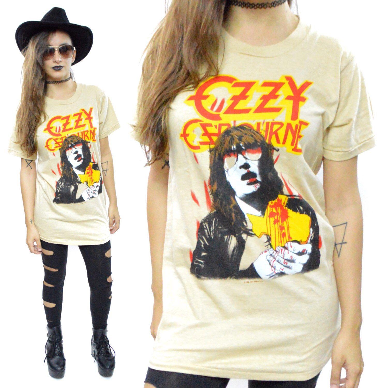 Vintage 80s Ozzy Osbourne Bites the Big One Texas Tour Concert T Shirt Sz M by DopedollVintage on Etsy https://www.etsy.com/listing/220272435/vintage-80s-ozzy-osbourne-bites-the-big