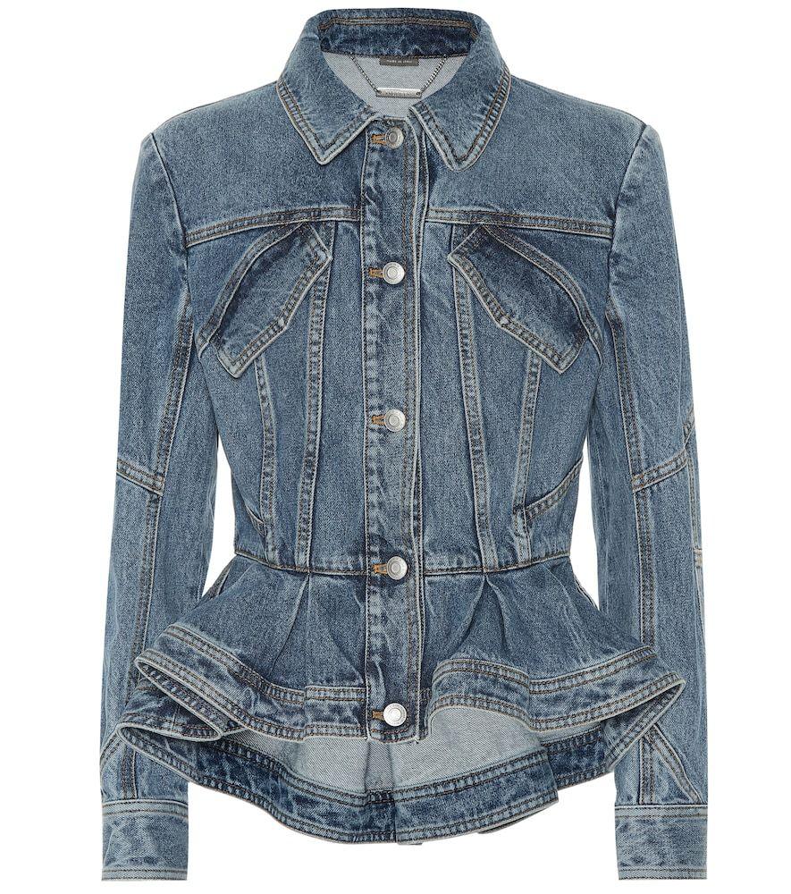 Peplum Denim Jacket Denim Fashion Denim Jacket Jackets [ 1000 x 885 Pixel ]