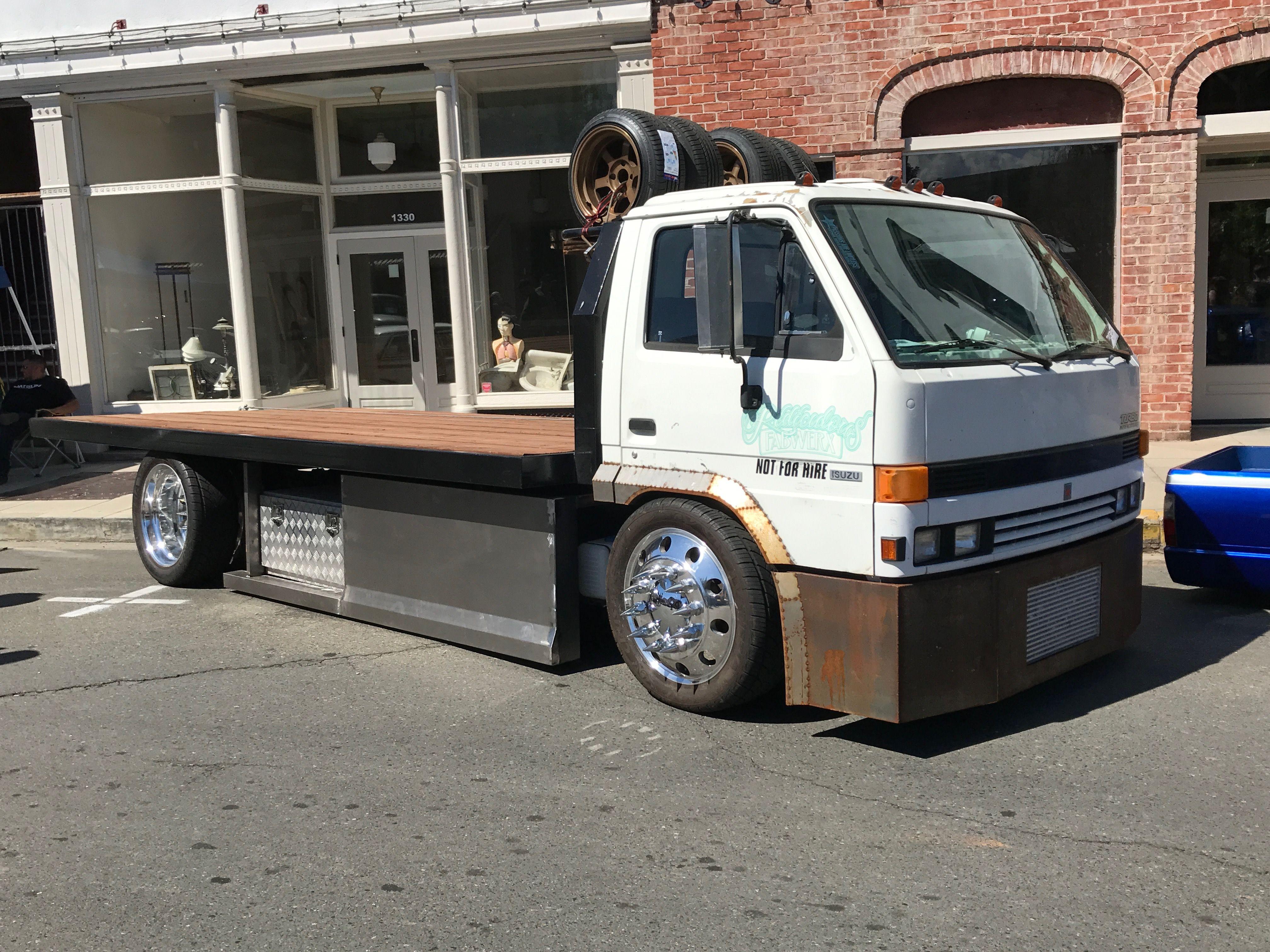 Pin By Jeff Brady On Slammed Big Truvks Tow Truck Custom Vans Cool Trucks