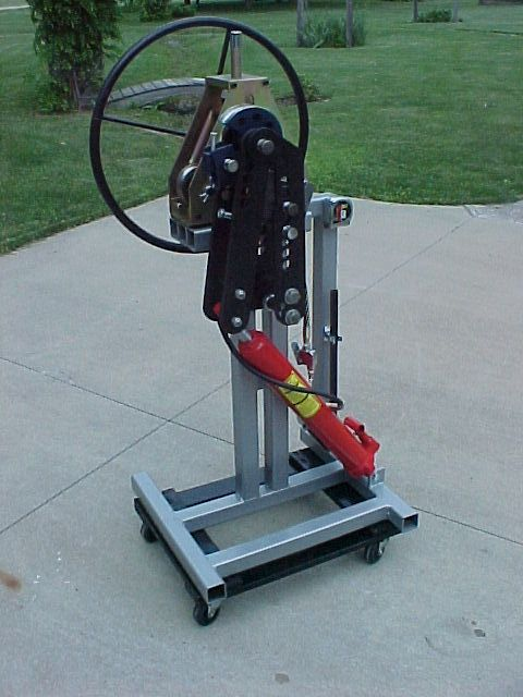 Roll A Round Bender Stand By Astroracer I Found A Set Of Plans On Ebay For This Stand I Built It Using Reclaimed 2 X In 2020 Metal Bender Metal Working Tools Bender