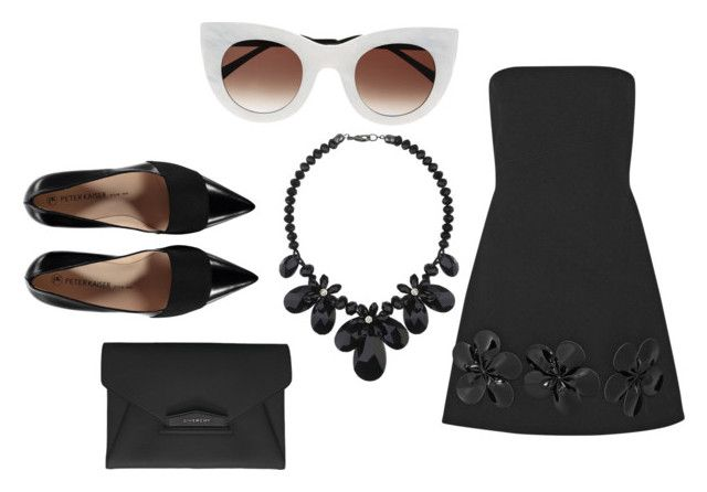 """classic"" by procrastination-princess ❤ liked on Polyvore featuring Thierry Lasry, Victoria, Victoria Beckham, Wallis and Givenchy"