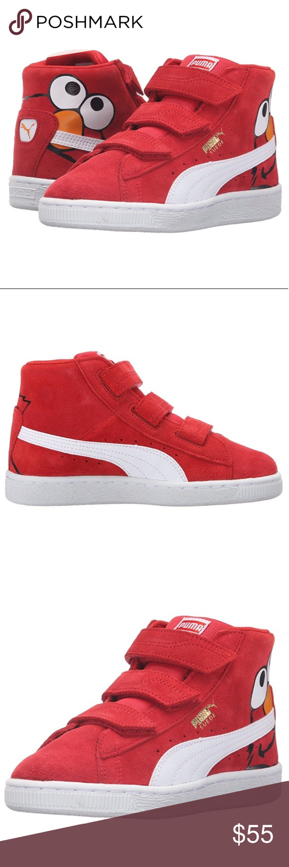 2f64a0a7c1e5 Suede Mid Elmo Puma! Sesame Street Edition! Your favorite sesame street  characters appear this