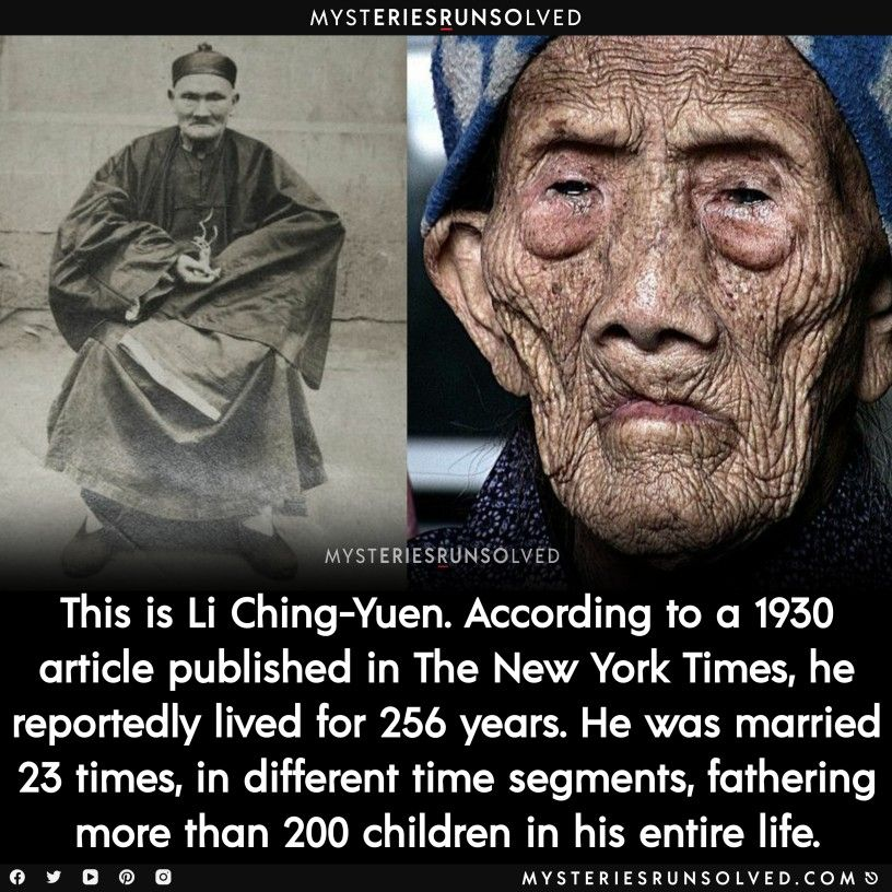Did Li Ching Yuen The Longest Lived Man Really Live For 256 Years Https Unsolved Link Li Ching In 2020 Scary Facts Science Facts Fun Facts