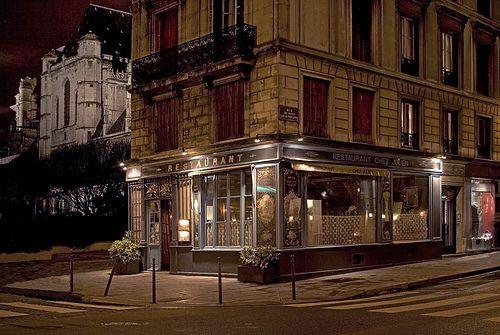 Rita Crane Photography: Paris / historic cafe / Le Marais / Eglise St. Gervais /  right bank / night / architecture / Chez Julien, Paris