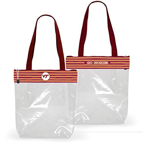 Nebraska Cornhuskers Clear Handbag//Purse and Reversible Sequined Wristlet Combo with Vegan Leather Trim and Removable Straps