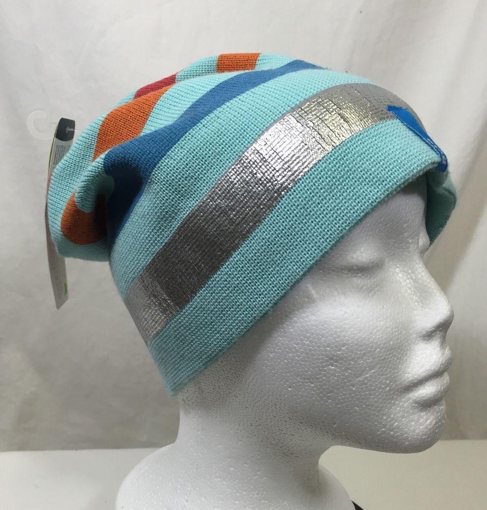 Bula Merino Wool Winter Ski Cap Hat Beanie Blend Teal Striped Silver Blue  Orange  Bula  Ski  Skiing  snowboarding  winter  winterfashion  hats f4b628491370
